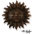 "6 1/2""W x 2""D x 6 1/2""H Michael Healy Sunface Door Knocker, Oiled Bronze"