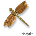 "3 1/4""W x 3 1/4""H Michael Healy Dragonfly Doorbell Ringer, Brass and Bronze"