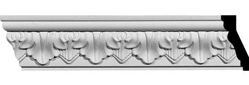 Urethane Crown Moulding 2-5-8-H-x-1-1-4-P-x-2-7-8-F-x-94-1-2-L-Ashur-Leaf-Crown-Moulding