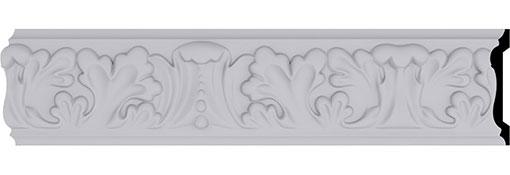 Moulding 3-1-2-H-x-1-P-x-96-L-Benson-Acanthus-Leaf-Chair-Rail