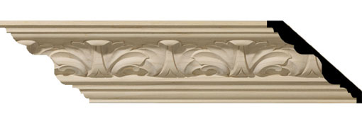 Wooden Crown Moulding 3-3-8-H-x-3-3-4-P-x-5-F-x-96-L-Acanthus-Leaf-Carved-Wood-Crown-Moulding