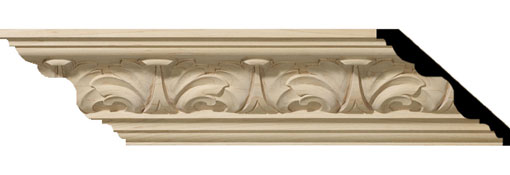 Wooden Crown Moulding 4-1-2-H-x-5-P-x-6-3-4-F-x-96-L-Acanthus-Leaf-Carved-Wood-Crown-Moulding