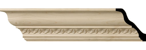 Wooden Crown Moulding 3-5-8-H-x-3-1-2-P-x-5-F-x-96-L-Lanarkshire-Carved-Wood-Crown-Moulding