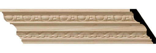 Wooden Crown Moulding 3-H-x-2-1-4-P-x-3-1-4-F-x-96-L-Bedford-Carved-Wood-Crown-Moulding