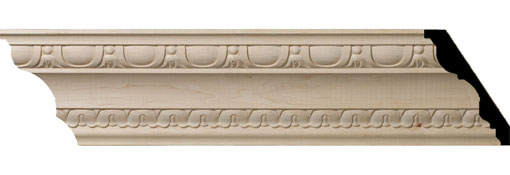 Wooden Crown Moulding 5-1-2-H-x-4-P-x-6-3-4-F-x-96-L-Bedford-Carved-Wood-Crown-Moulding
