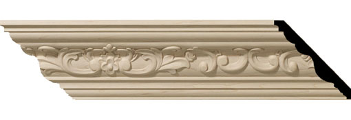Wooden Crown Moulding 3-1-2-H-x-3-5-8-P-x-5-F-x-96-L-Medway-Carved-Wood-Crown-Moulding