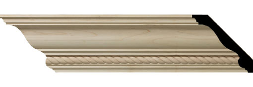 Wooden Crown Moulding 4-3-4-H-x-4-7-8-P-x-6-3-4-F-x-96-L-Andrea-Rope-Carved-Wood-Crown-Moulding