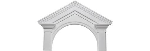 Pediments 67-1-4-W-x-45-1-8-H-x-5-1-2-P-Deluxe-Victorian-Pediment--20--Radius---7-12-Pitch--Urethane