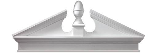 Pediments Combination-Acorn-Pediment-with-Bottom-Trim