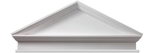 Pediments Combination-Peaked-Cap-Pediment-with-Bottom-Trim