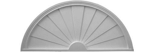 Pediments Half-Round-Sunburst-Pediment